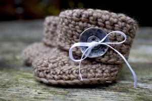 bruine slofjes haken - Dimfies