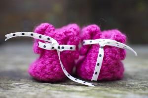 roze slofjes haken achterkant - Dimfies