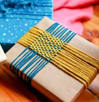 cadeaus inpakken weven inspiredbylovely.blogspot.com