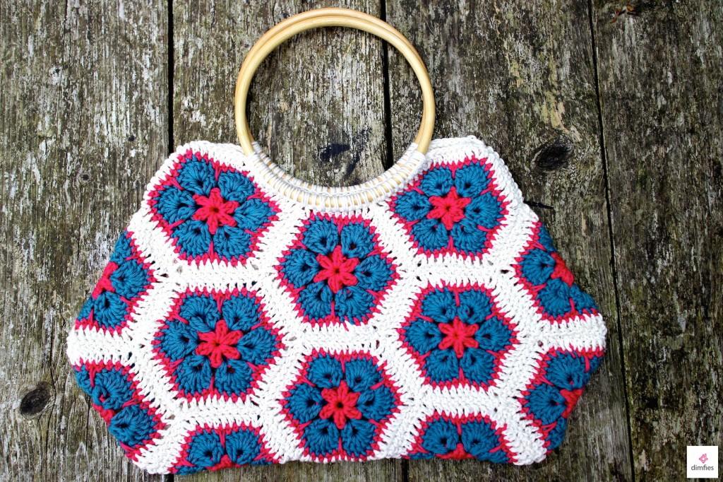 African flower crochet bag - Dimfies