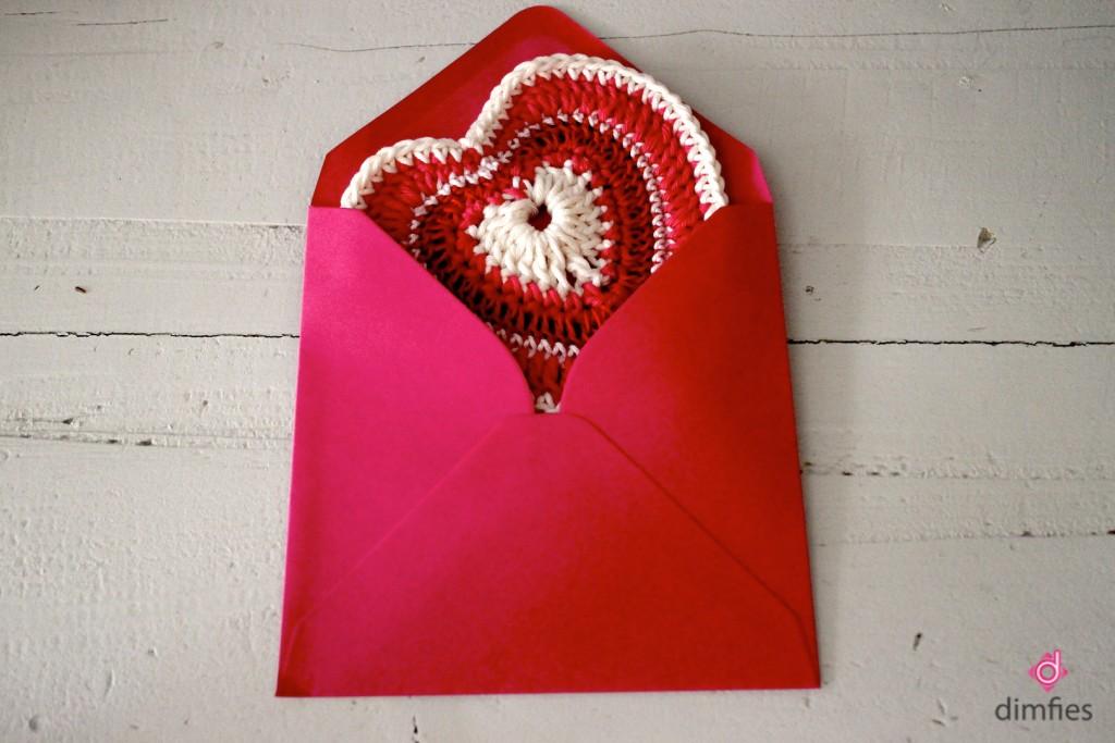 Gehaakte valentijnspost - Dimfies