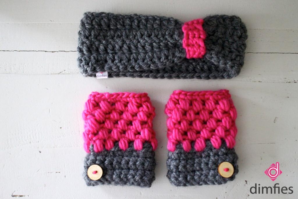 Handschoenen en hoofdband haken - Dimfies