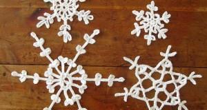 Sneeuwvlokjes haken