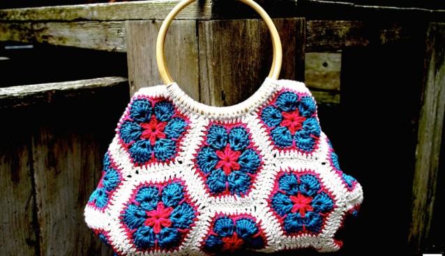 'In love'…African flower bag!