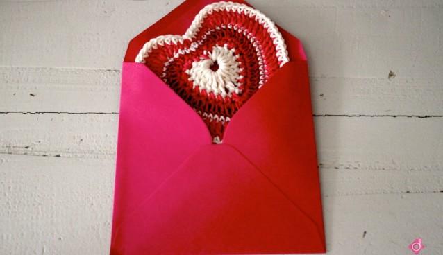 Gehaakte valentijnspost