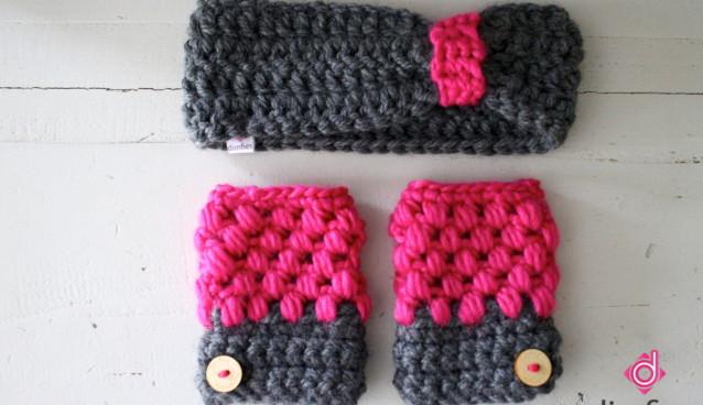Handschoenen en een hoofdband haken