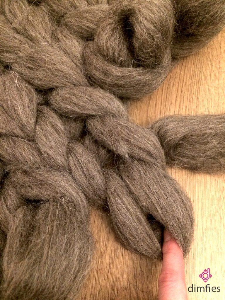 Lontwol breien- Dimfies