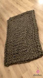 Woonplaid breien - Dimfies