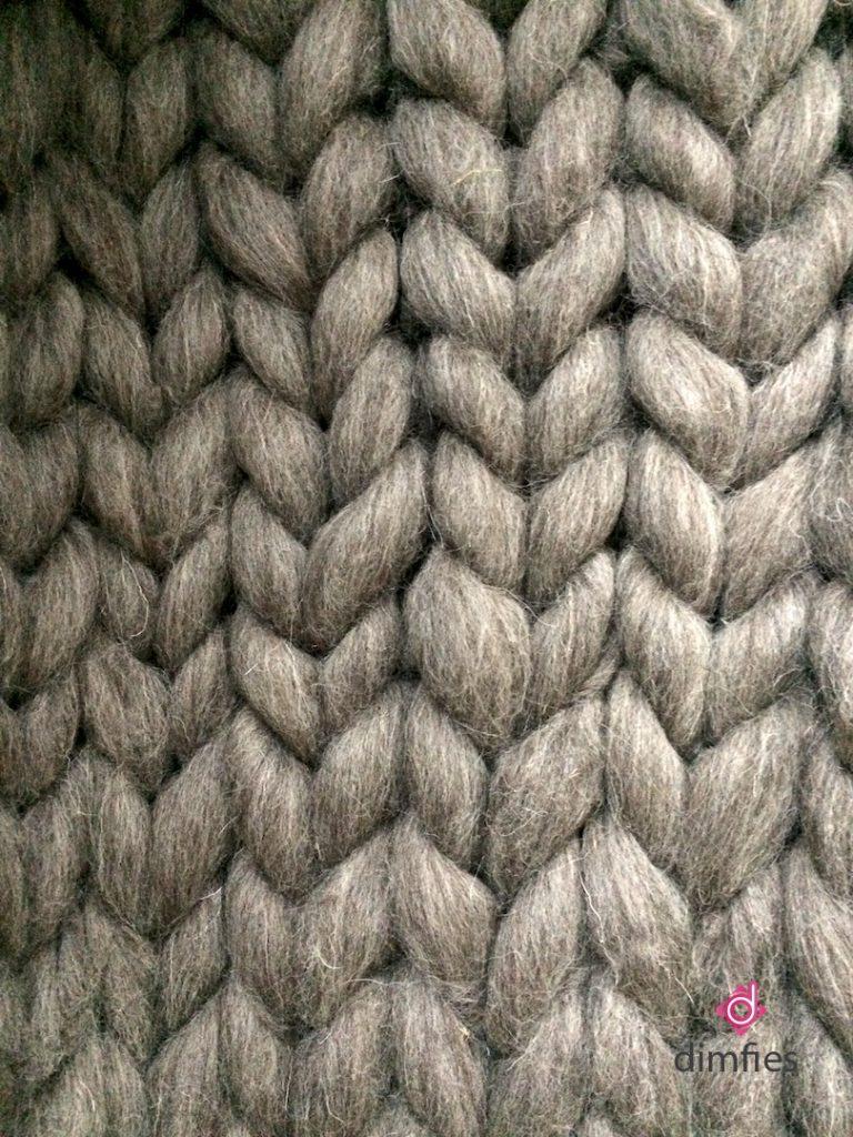 Lontwol breien - Dimfies